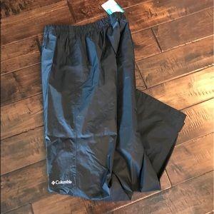 Columbia Men's Black Rain Pants Small
